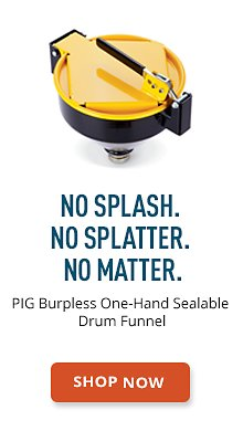 PIG Burpless One-Hand Sealable Drum Funnel