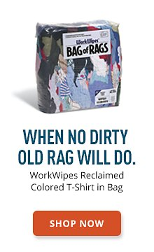 WorkWipers Reclaimed Colored T-Shirt in Bag