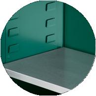 Full-width shelf hangers