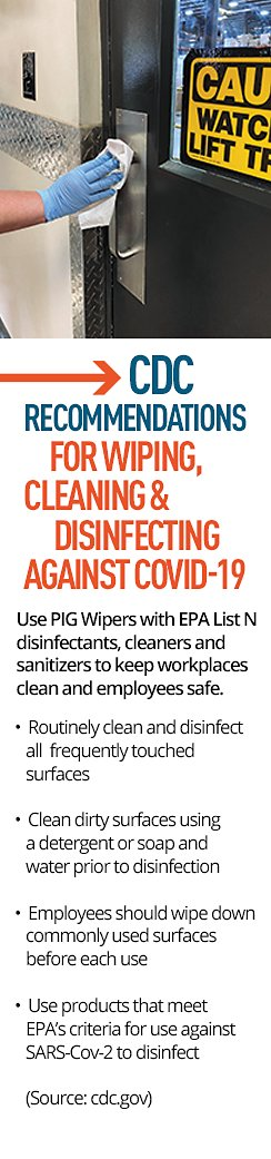 CDC Recommendations for Wiping, Cleaning & Disinfecting Against COVID-19