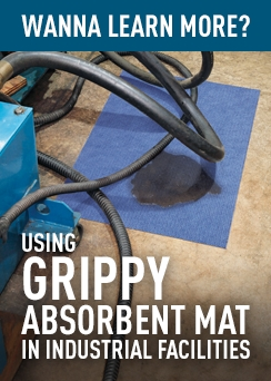 Using Grippy Absorbent Mat in Industrial Facilities