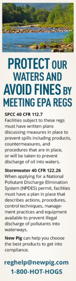 Protect our Waters and Avoid Fines by Meeting EPA Regs