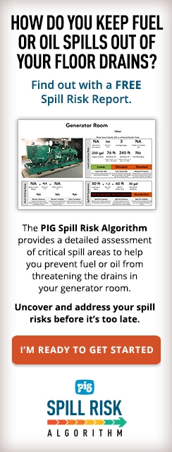 How do you keep fuel or oil spills out of your floor drains? Find out with a free Spill Risk Report