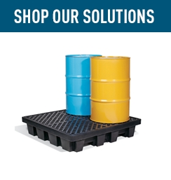 Shop Our Solutions PIG Spill Containment Pallets, Decks and Trays.