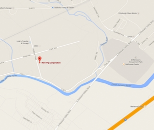 Map of New Pig Corporation in Tipton