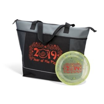 Flying Disc & Cooler Tote Image