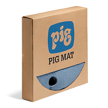 Pig Blue® Barrel Top Absorbent Mat