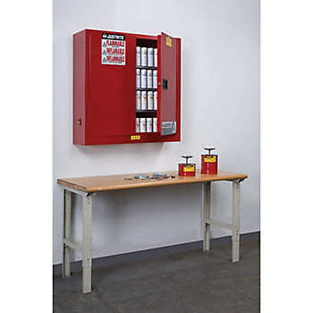 Justrite® Aerosol Can Wall-Mount Safety Cabinet