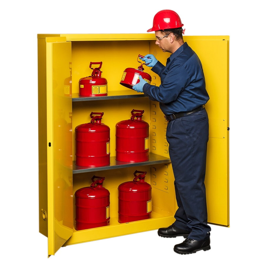Yellow Flammable Cabinet Flammable Cabinet Self Closing Doors Colors Expert Advice