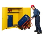 PIG® Vertical Drum Flammable Safety Cabinet with Rollers