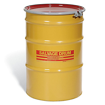 Bolt & Ring Open-Head UN Rated Steel Salvage Drum