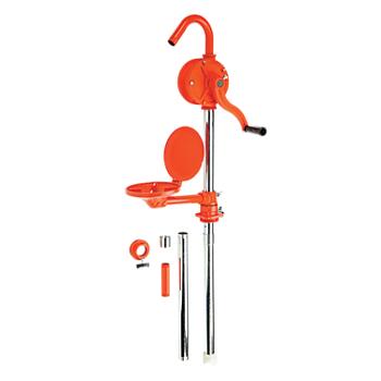 Wesco Iron Rotary Hand Drum Pump with Drip Pan
