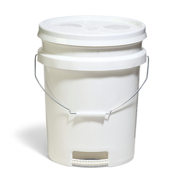 Open-Head Pail with Built-in Handle