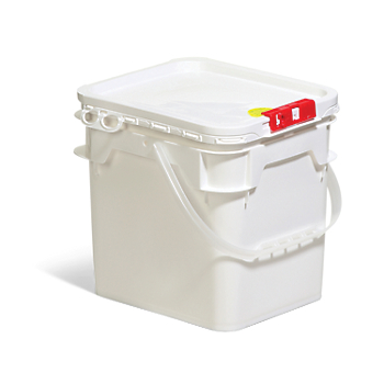 Life Latch® UN Rated Square Poly Pail