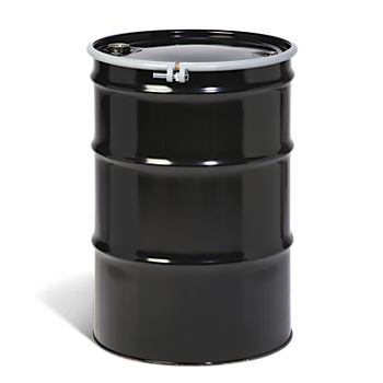 55-Gallon Open-Head UN Rated Steel Drum with Bungs