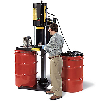 Free-Standing Oil Filter/Paint Can Crusher