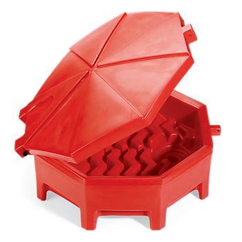 PIG® Poly Drum Funnel with Hinged Lid