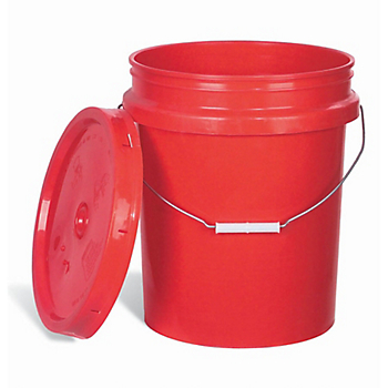 Open-Head Colored Poly Pail