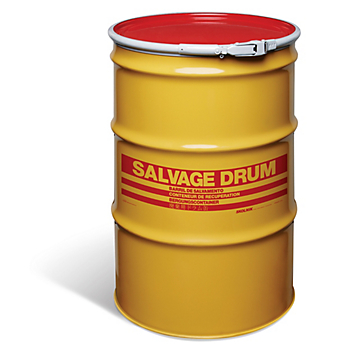 Quick-Style Open-Head UN Rated Steel Salvage Drum