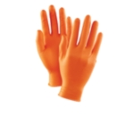 Ammex Gloveworks HD™ Orange Disposable Nitrile Gloves