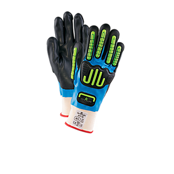 SHOWA 377 IP Nitrile Coated Impact Protection Gloves