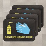 PIG® Sanitize Hands Here Floor Sign for Carpet - Box of 4
