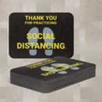 PIG® Social Distancing Floor Sign for Carpet - Box of 50