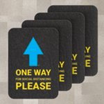 PIG® One-Way Directional Arrow Floor Sign & Marker for Carpet - Box of 4