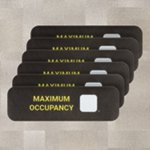 PIG® Max Occupancy Floor Sign for Carpet - Box of 6