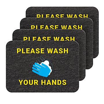 PIG Wash Your Hands Floor Sign with Non-Slip Surface