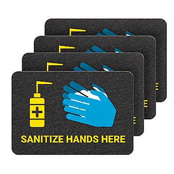 PIG Hand Sanitizer Station Floor Sign with Non-Slip Surface