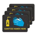 PIG® Sanitize Hands Here Floor Sign - Box of 4