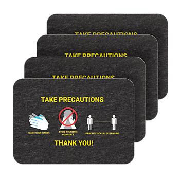 PIG® Health & Social Distancing Floor Sign - Box of 4