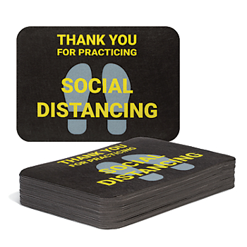 PIG® Social Distancing Floor Sign - Box of 50