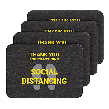 PIG® Social Distancing Floor Sign - Box of 4
