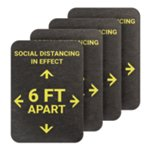 PIG® Social Distancing Six Feet Apart Floor Sign - Box of 4