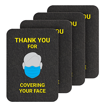 PIG® Cover Your Face Floor Sign - Box of 4