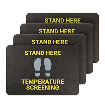 PIG® Temperature Screening Floor Sign & Marker- Box of 4
