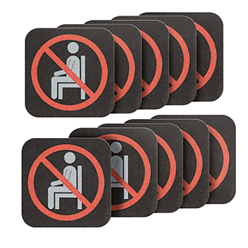 PIG® Social Distancing Seat Unavailable Sign & Marker - Bag of 10