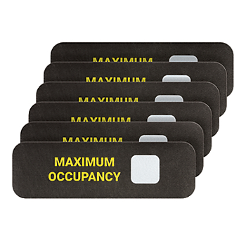 PIG® Max Occupancy Floor Sign - Box of 6