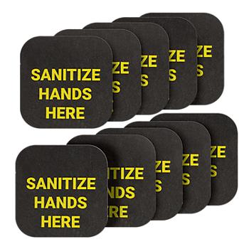 PIG® Hand Sanitizing Station Sign & Marker - Bag of 10