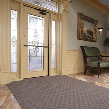 PIG® Grippy® Adhesive-Backed Checkered Entrance Mat