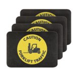 PIG® Caution Forklift Traffic Safety Message Mat