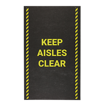 PIG® Keep Aisles Clear Safety Message Mat