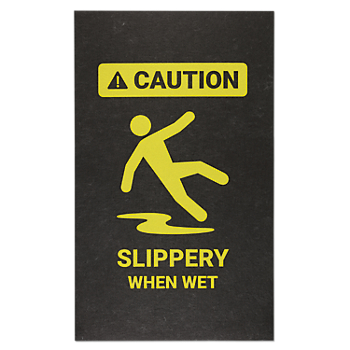 PIG® Caution Slippery When Wet Safety Message Mat