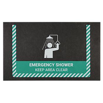 PIG® Emergency Shower Safety Message Mat