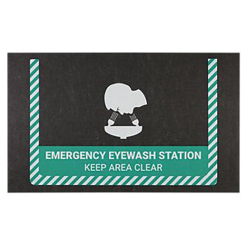 PIG® Emergency Eye Wash Station Safety Message Mat