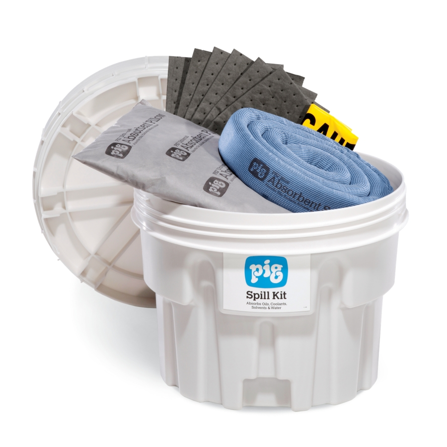 PIG® Spill Kit in 20-Gallon Overpack Salvage Drum