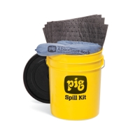 PIG® Spill Kit in 5-Gallon High-Visibility Economy Container