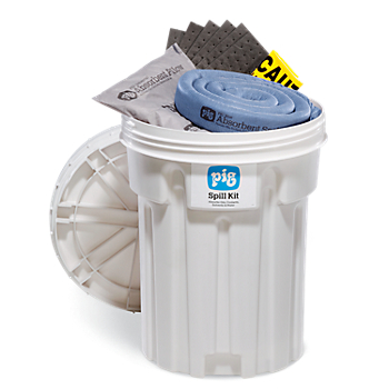 PIG® Spill Kit in 30-Gallon Overpack Salvage Drum